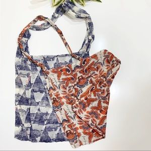 Free People Cloth Bags Blue and orange